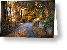 Country Cobblestone Greeting Card