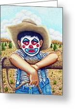 County Fair Clown Greeting Card