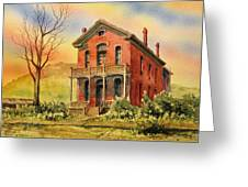 Courthouse Bannack Ghost Town Montana Greeting Card