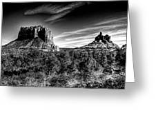 Courthouse Butte And Bell Rock Sedona Arizona Greeting Card