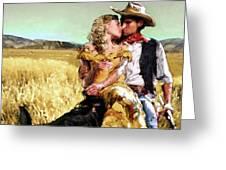Cowboy's Romance Greeting Card