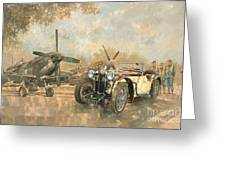 Cream Cracker Mg 4 Spitfires  Greeting Card by Peter Miller