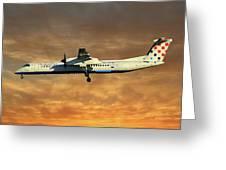 Croatia Airlines Bombardier Dash 8 Q400 Greeting Card