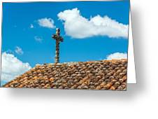 Cross And Tiled Roof Greeting Card