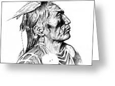 Crow Medicine Man Greeting Card