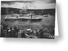 Cruising Into Port Greeting Card