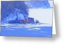 Csx Train Greeting Card