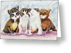 Cuddle Kitties Greeting Card