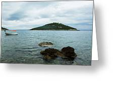 Cunski Beach And Coastline, Losinj Island, Croatia Greeting Card