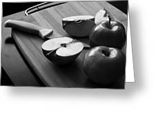 Cutting Apples Greeting Card