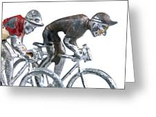 Cyclists Greeting Card