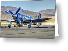 Czech Mate Engine Start Sunday Afternoon Gold Unlimited Reno Air Races Greeting Card