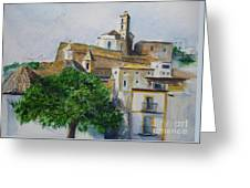 D Alt Vila Ibiza Old Town Greeting Card