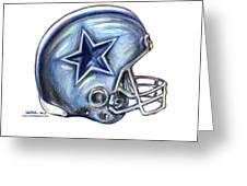 Dallas Cowboys Helmet Greeting Card by James Sayer