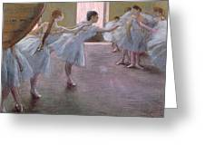 Dancers At Rehearsal Greeting Card