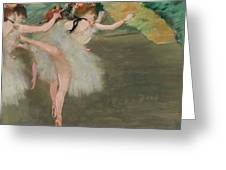 Dancers In White Greeting Card