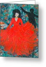 Dancing Joyfully With Or Without Ned Greeting Card by Annette McElhiney