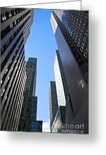 Dark Manhattan Skyscrapers Greeting Card
