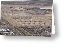 Davis-monthan Air Force Base Airplane Greeting Card