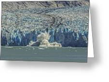 Dawes Glacier Calving #1 Greeting Card