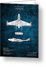 de Havilland Venom Greeting Card