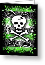 Deathrock Skull Greeting Card