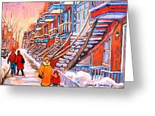 Debullion Street Winter Walk Greeting Card