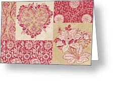 Deco Heart Red Greeting Card
