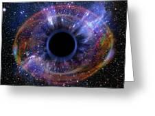 Deep Black Hole, Like An Eye In The Sky Greeting Card