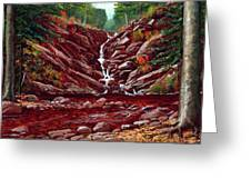 Deepwoods Cascade Greeting Card