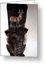 Deer Feather Greeting Card
