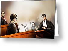 Defence Attorney Dirk Derstine At The Tori Stafford Murder Trial In London Greeting Card