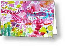 Delicious Pink Greeting Card