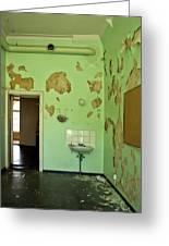 Derelict Hospital Room Greeting Card