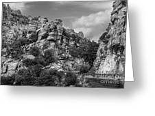 Desert Mountain Drive Greeting Card
