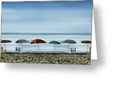 Deserted Beach. Greeting Card