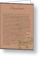Desiderata 9 Greeting Card