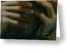Detail - Temptation Of Christ Greeting Card