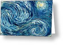 Detail Of The Starry Night Greeting Card