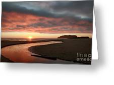 Devils Kitchen Sunset Greeting Card