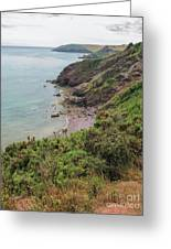 Devon Coastal View Greeting Card