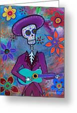 Dia De Los Muertos Mariachi Greeting Card