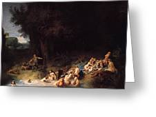Diana Bathing With Her Nymphs Greeting Card