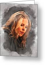 Diana Krall Greeting Card