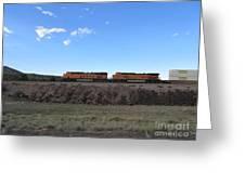 Diesel Train Engines Greeting Card