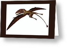 Dimorphodon On White Greeting Card