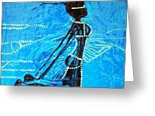 Dinka Lady - South Sudan Greeting Card
