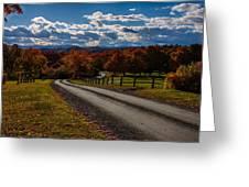 Dirt Road Through Vermont Fall Foliage Greeting Card