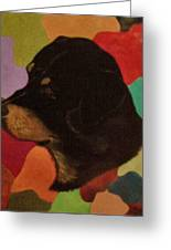 Dog In Art Greeting Card
