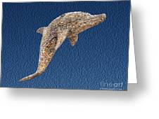 Dolphin Shell Art Sculpture Greeting Card